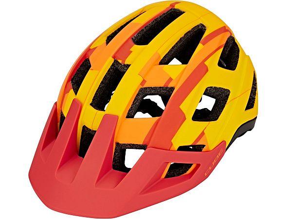 Cube Badger Cykelhjelm, Orange Camo
